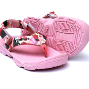 FlipRocks Kids Pink Flip Flops with Toe Guard, Arch